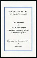 CEREMONIAL BAPTISM CHARLES ARMSTRONG -JONES 1999 ST JAMES PALACE LORD LINLEY