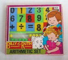 Toy Abacus Plastic Number Blocks Arithmetic Set Larami 1960's New in Box