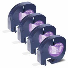 4pcs Compatible For Dymo Label Maker Lt 100h 100t Letratag Tapes Lt 16952 12mm