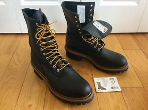 Redwing no.218 Men's ISO CERT Black Leather LOGGER BOOT MEN WORK 11.5 D