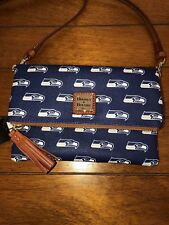 NWT DOONEY & BOURKE NFL SEATTLE SEAHAWKS Foldover Crossbody Shoulder Bag