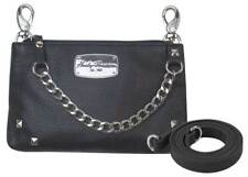 Harley-Davidson Women's Chain Gang Leather Hip Bag w/ Strap, Black CG2364L-BLK