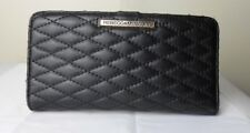 Rebecca Minkoff Sophie Quilted Black Leather Continent Wristlet Wallet Organizer