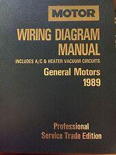New listing Motor Wiring Diagram Manual General Motors 1989 Prof Trade Edition Ships Free!