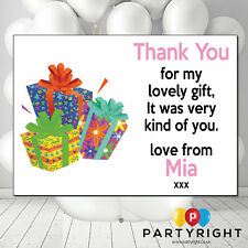 Personalised Kids Birthday /christmas Thank You Card / Notes X10
