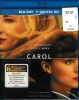 Carol (2015 Film) **Brand New Blu-Ray + Ultraviolet Digital Factory Sealed**