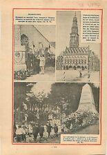 Monument Maréchal Ferdinand Foch Ploujean Plouyann Finistère 1932 ILLUSTRATION