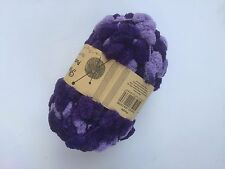 Pompom Knitting Crochet Yarn Soft With Big Bobbles 3 X 70g - Purple & Mauve Mix