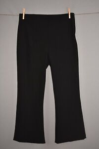 A.L.C. NEW $325 Drew Crop Flare Pants in Black Size 8