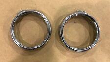 DUCATI SPORT CLASSIC GT 1000 SPORT 1000 DASH GAUGES SPEEDO CHROME TRIM RING