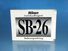 Nikon SB-26 Bedienungsanleitung Deutsch german manual mode d'emploi - (1576)