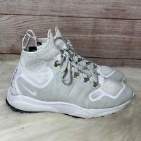 Men's Nike Zoom Talaria Mid FK FlyKnit White/Pure Platinum Size 12 856957-100
