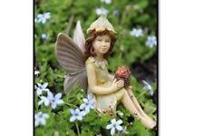 Miniature Dollhouse FAIRY GARDEN Fairy Daffodil Sitting with Flowers