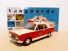VANGUARDS FORD CORTINA MKII 1600 GT LANCASHIRE POLICE VA04105 1:43 SCALE