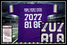 PURPLE PEOPLE EATERS autographed signed VIKINGS purple jersey JSA coa UNFRAMED