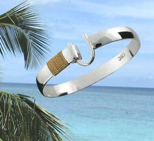 8mm .925 Sterling Silver & 14K Gold ST. CROIX Caribbean Hook Bracelet - 8