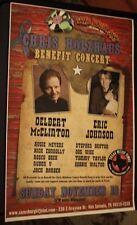 CHRIS HOLZHAUS Delbert McClinton ERIC JOHNSON San Antonio TX 2007 Concert Poster