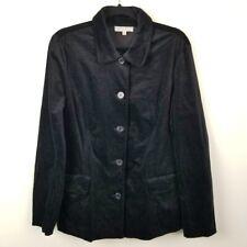 Talbots Outlet Velvet Blazer Black Velour Size 14 Riding Jacket Button Front