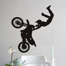 Motorcycle Racer Boys Kids Room Quote Wall Decal Vinyl Sticker Bedroom Decor