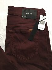 Joes Jeans The Slm Fit Mens Size 30x35 Straight Leg Stretch Denim Red Sea NWT
