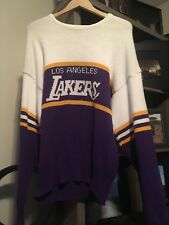 80s Vintage Los Angeles Lakers Knitted Sweater Cliff Engle
