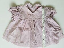 A13 Vintage Purple Lavander Gingham Dolls Baby Doll Dress Teddy Bear Baby Top