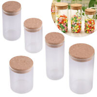 Clear Glass Storage Canister Jar Bottle fit forCookie biscuits With Sealed Cork