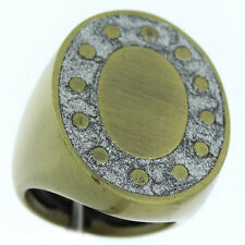 Ladies No Stone Anique Style Tutone Plated Ring Size 8
