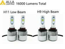 Alla Lighting LED High Low Beam Headlight Bulb Light for SATURN SKY, Xenon White