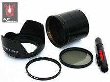 F131 Lens Hood + Lens Pen + Adapter Ring + UV / CPL Filter for Sony DSC HX100V