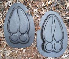 2  plaster concrete plastic garden molds moose tracks 100 mil plastic