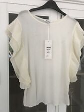 Sweewe @ House Of Fraser White Ruffle Top- Size S/M RRP £35