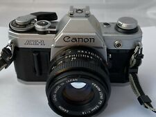 Canon AE-1 Film Camera & FD 50mm F1.8 Lens, New Seals, Excellent