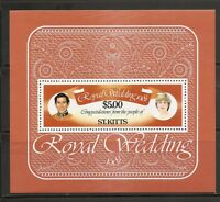 St Kitts SC # 81 1981 Royal wedding Souvenir Sheet. MNH