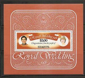 St Kitts SC # 81 1981 Royal wedding Souvenir Sheet. MNH