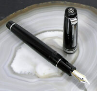 SAILOR PROFESSIONIAL GEAR BLACK RHODIUM 11-2037-220-F 21K GOLD NIB + INK CONV.