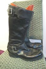 VINTAGE 70's FRENCH LEATHER MOTORCYCLE BOOTS SIZE 7 GREAT CONDITION