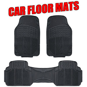 Compatibility For Nissan Navara Ute dual Cab D40 08-20 Rubber Car Floor Mats 3x
