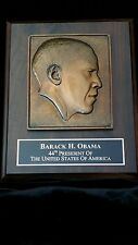 New Rare Limited Edition Barack Obama Bronze Finished Plaque Gift