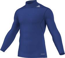 adidas Techfit MOC Shirt blau, Laufshirt warm Gr.XS,S,M,L,XL,XXL,3XL