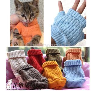 Small Teacup Dog Sweater Cute Cat Coat Pet Puppy Clothes Clothing XXXXS/XXXS/XXS