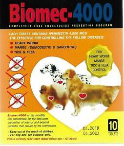 6X 10 tablet Pet Dog prevent Protection tick flea heart gard Biomec FAST US.