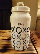 BRAND NEW Rae Dunn blue XOXO canister 'treats.'