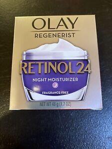 New Olay Regenerist Retinol 24 Night Moisturizer (Fragrance-Free) 1.7 oz Jar