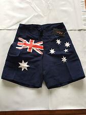 BNWT Mens 2Sea Brand Sz 6XL Aussie Flag Print Tie Waist Swim/Casual Board Shorts