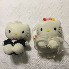 Pair Of Hello Kitty Plush Dolls  - Wedding Couple
