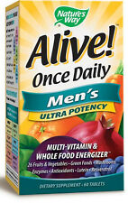 Alive! Once Daily Ultra Potency Men's - 60 Tablets - Nature's Way
