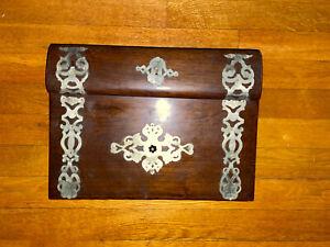 Antique English Lap Desk with Metal Decoration