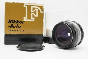 [MINT in BOX] Nikon Nikkor-H Auto 28mm f/3.5 MF Non Ai Lens From Japan