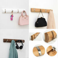 Solid Wooden Wall Mounted Hook Peg Coat Hanger Rack Towel Hanging Hooks Storage